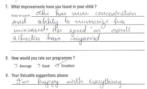 20180120 Zivien Kristein John BOB Parent's Feedback Form 0114 copy