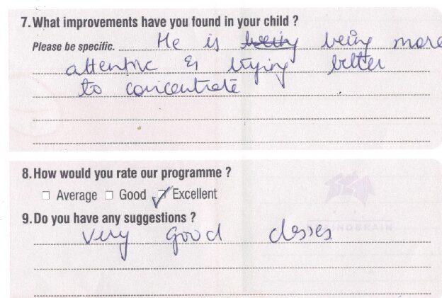 20181225 Arnav Madhwani BOB Parent's Feedback Form 0138 copy